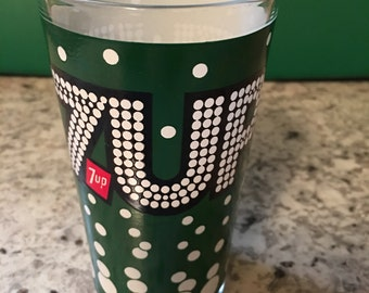 Vintage 7up Glass