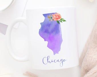Chicago Coffee Mug | Illinois Mug | City Mug | Location Mug | Gift for Her | Moving Gift | Made In Chicago | Chicago Gift | Home Mug