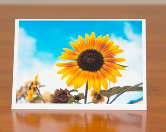 Yellow flower photo greeting card