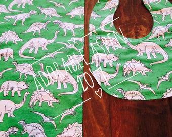 Baby Boy bib & burp cloth - Dinosaurs