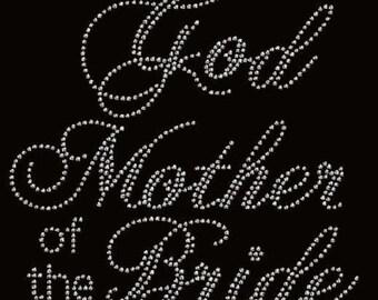 Rhinestone God Mother Lightweight T-Shirt or DIY Iron On Transfer                                    NO5G
