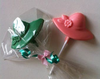 Ladies Hat Chocolate Lollipops