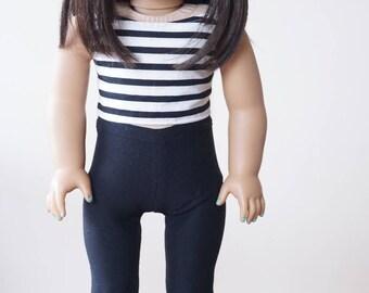 """Plain Black Leggings - fits 18"""" dolls // Mix & Match Collection"""