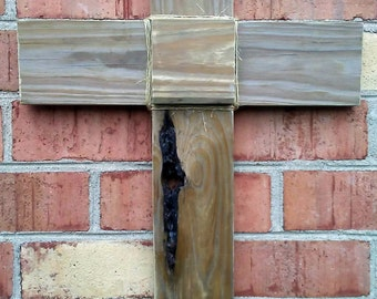 Long Knot Reclaimed Wood Cross