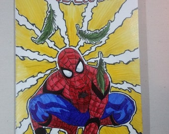 Custom Spiderman comic cover
