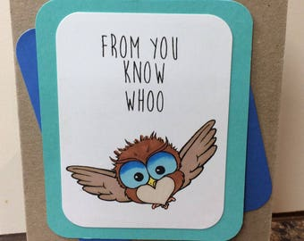 Handmade card - from you know whoo
