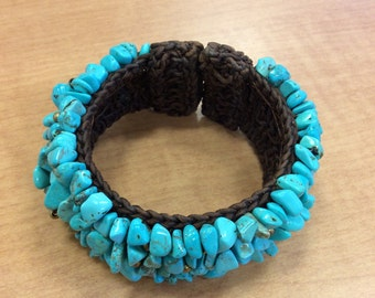Bracelet: turquoise, hand-made