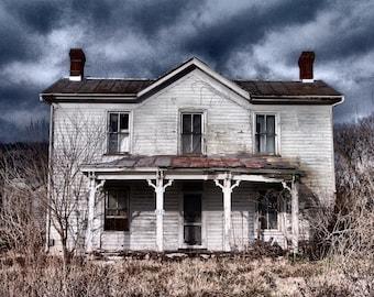 Old House Photo, Abandoned House Photograph, Country House, Farmhouse Photography, Farmhouse Photo, Abandoned House Print, Old House Print