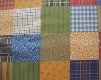 Country Fabric Quilt Patch By the Yard 36 Inches Long