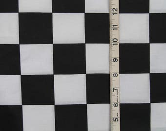 Black White Checkered Fabric By the Yard Cotton 36 Inches Long