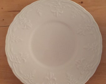 Tabletops Unlimited Versailles White Saucer / Small Plate