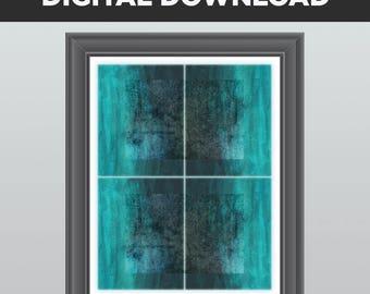 DIGITAL DOWNLOAD, Instant Download, 11 x 14, 8 x 10, Teal, Aqua, Turquoise, Blue, Gray, Abstract, Wall Decor, Modern Art, Digital Print, art
