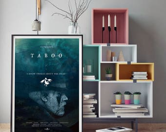 Taboo TV Poster Art Print, TV Poster, Wall Art, Tom Hardy Poster