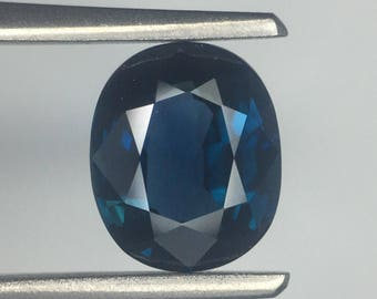 GIA Certified Unheated 100% Natural Oval Blue Sapphire 2.06CT Rare