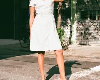 Vintage Linen Wrap Dress