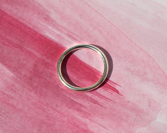 Handmade sterling silver round wire simple stacking ring UK size: G
