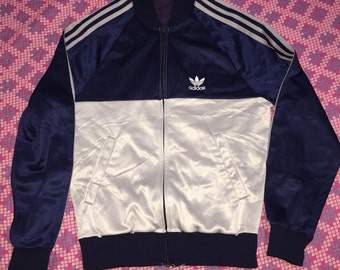 Vintage 80s aadidas r trefoil two colour jacket
