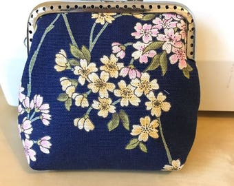 Osmanthus Flower Blossom Coin Purse Blue Wallet Red Yellow