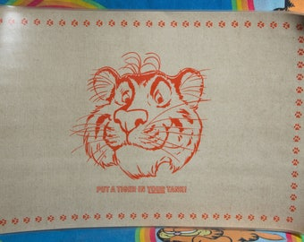 Vintage Place Mats-Esso-Put a Tiger in your tank.