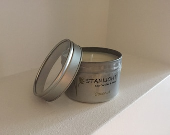 Scented Soy Wax Heart or Round Travel Candle Tins Any Fragrance
