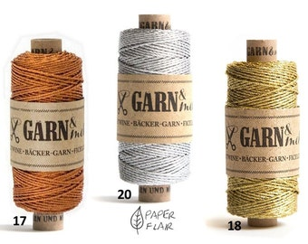 Baker yarn of bakers Twine copper silver gold 45 m (G)