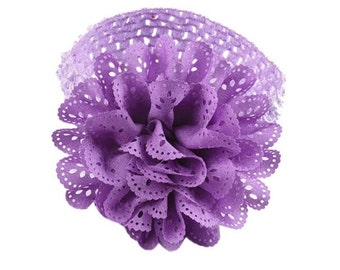 Girls hair band lace flower