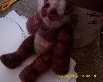 """Puglsey (needlefelted """"pug-like"""") panda)"""