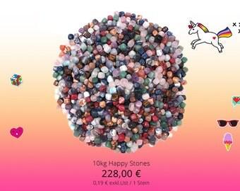 Happy 10kg stones tiles tumbled semi-precious stones giveaway give away healing stones of gemstones children mix