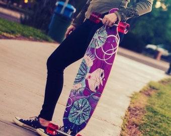 Longboard Deck | Drop-Through Longboard Deck | Kai - Azza Skateboards