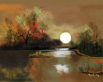 Full Moon's Reflection