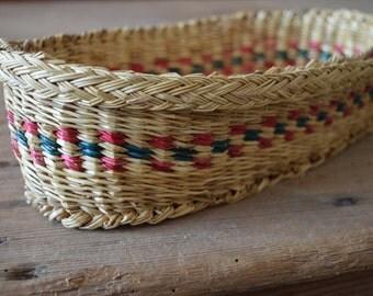 Italian handwoven reed basket for bread
