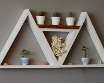 Triangular Geometric Shelving