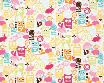 Forest life fabric -Michael Miller forest fabric -forest fabric -owl cotton fabric -Michael Miller fabric -quilting cotton -forest life