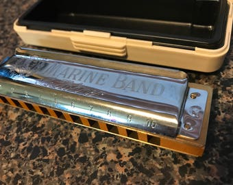 Marine Band Harmonica with Original Case G