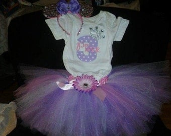 Personalized Birthday tutu outfit