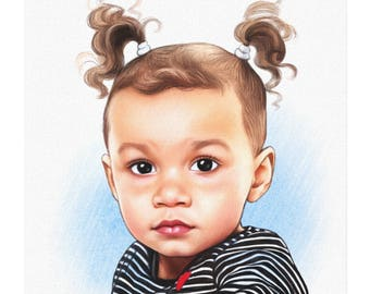 Custom Drawn Portrait or Caricature printed on Canvas
