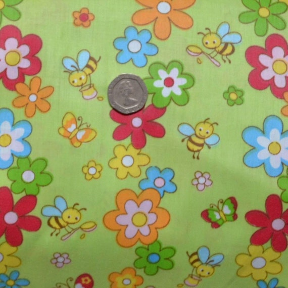 Bee fabric bumble bee fabric baby bee fabric childrens for Childrens fabric sale