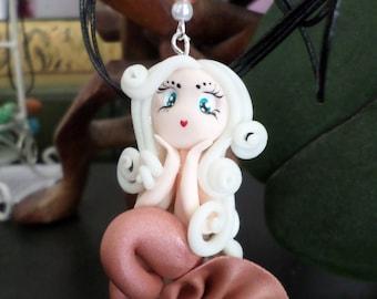 Cold porcelain Mermaid pendant