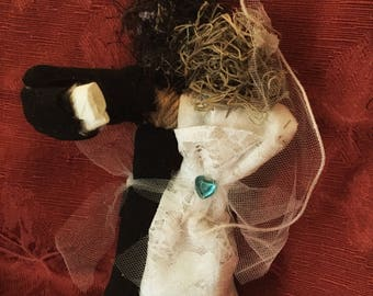 Voodoo Doll Marriage Bride Groom Good Luck Proposal Real New Orleans Authentic Voodoo One of a kind