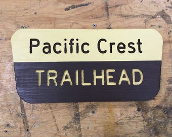 Pacific Crest Trailhead National Forest Sign