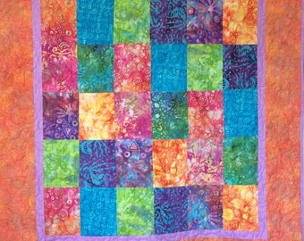 Rainbow Batik Quilt