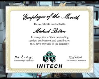 Office Space Employee of the Month - Initech