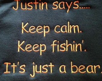 Keep calm. Keep fishing. It's just a bear. Hoodie