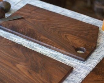 Oversized Solid Walnut Serving Tray - Light Cutting Board