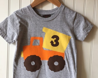 Construction 3rd birthday shirt. Completely customizable. Dump truck birthday shirt. Work Zone party. Second, third, truck, cone, work truck