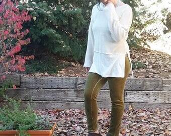 M Hemp Faux Layer sweater