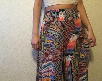 Colorful Festival Peyote Gaucho Pants