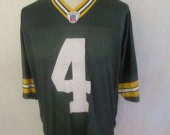American vintage FABRE N 4 Packers Green Bay Green size L football Jersey