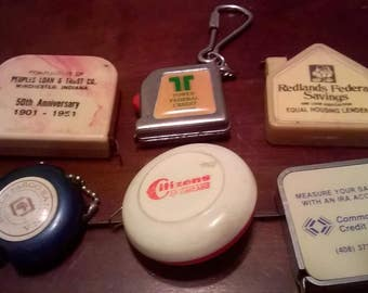 6 Tape Measures from Banks and Credit Unions