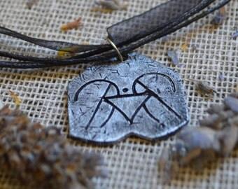 Determination-Sigil Witchcraft Necklace// Magic Pendant//Sigil Magick//Wicca//Determination Sigil//Witchcraft Jewelry